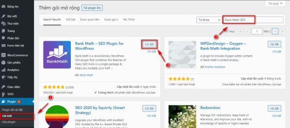 Hướng dẫn cài đặt và kết nối Rank Math SEO vào website WordPress 1