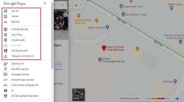 Hướng dẫn sử dụng tất tần tật các tính năng có trên Google Maps 4