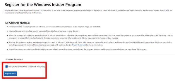 Hướng dẫn cách đăng ký để trải nghiệm bản Beta của Windows 11 12
