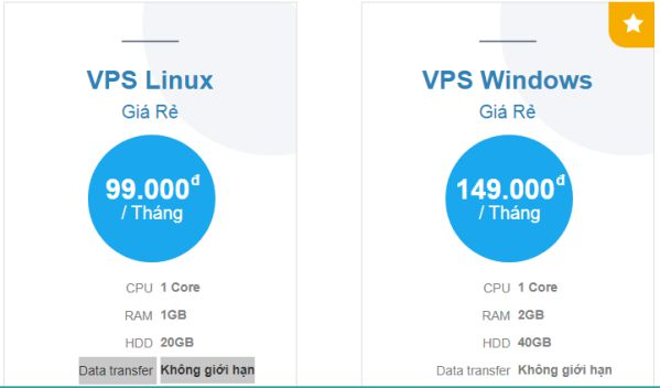 Cho thuê VPS Linux, VPS Windows giá rẻ chỉ từ 99k/tháng 3