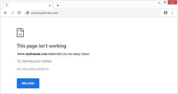 """Hướng dẫn cách khắc phục lỗi """"Too Many Redirects"""" ở WordPress 1"""