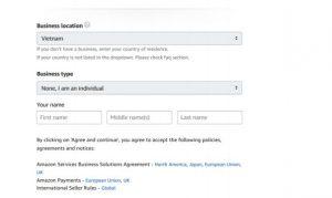 Hướng dẫn đăng ký tài khoản Amazon seller - Reg acc Amazon (6)