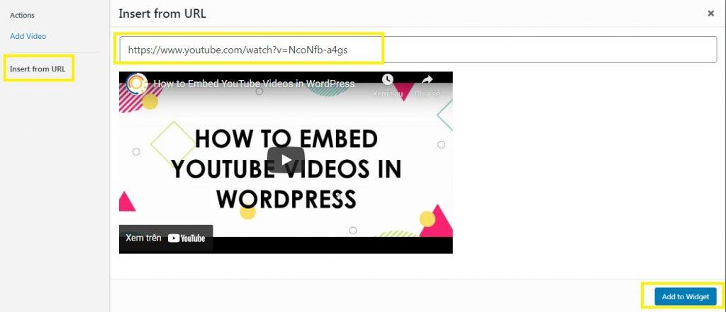 Cách chèn video YouTube vào WordPress, nhúng video Youtube (3)
