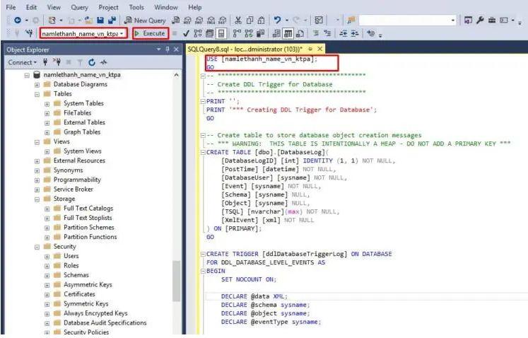 Cách import script SQL Server trên công cụ SQL Management (2)