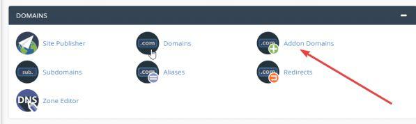 Hướng dẫn cách Addon Domain (tên miền) và tạo Sub Domain cPanel 1