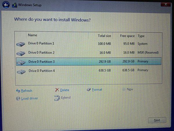 """Sửa lỗi """"Windows cannot be installed to this disk"""" sai định dạng ổ cứng 3"""