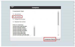 Cách sao lưu dữ liệu WordPress trên hosting cPanel (7)