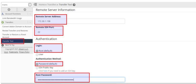 Chuyển dữ liệu website bằng transfer tool trên cpanel WHM (1)