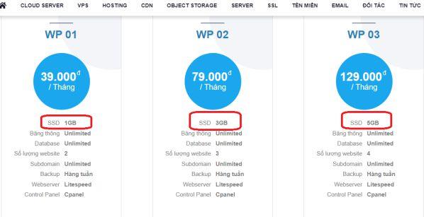 Gói WordPress Hosting giá rẻ chất lượng giúp tăng tốc website 2
