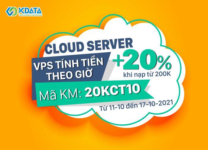 HOT SALE: KDATA -30% Hosting, +20% khi nạp tiền VPS theo giờ (1)
