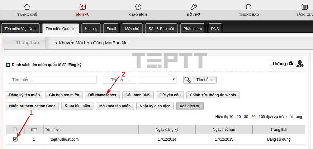 Hướng dẫn chi tiết cách trỏ tên miền về hosting (3)